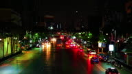 Night city traffic video