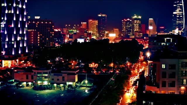 Night city view video