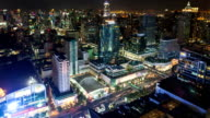 Night city,Time Lapse and Effect Zoom. video