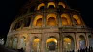 Night Coliseum as famous sight of Rome video