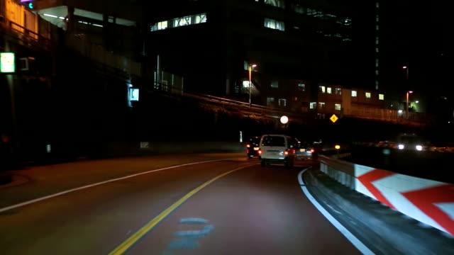 Night drive in Tokyo video