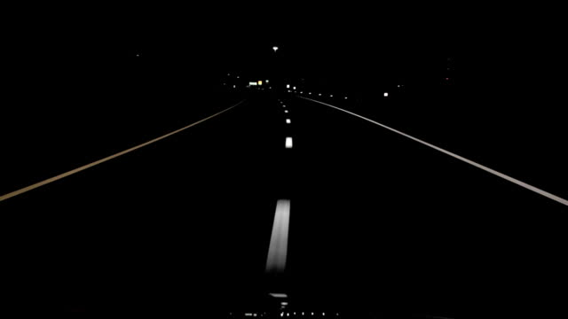 Night Drive Straight Lines HD video