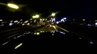 Night drive timelapse video