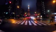 Night driving in Tokyo -Tokyo Tower -4K- video