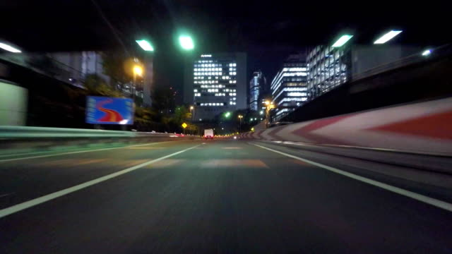 Night driving in Tokyo video