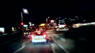 HD Night Driving time-lapse loop. City to Country video