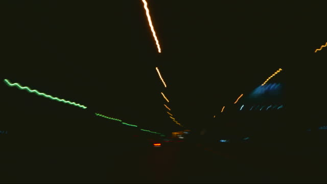Night driving timelapse video