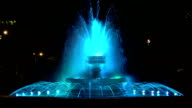 Night ​​fountain video