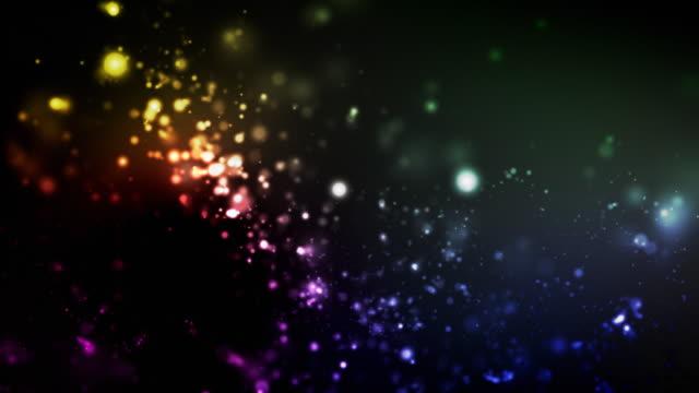 Night Glitter Loop - Rainbow (1080) video