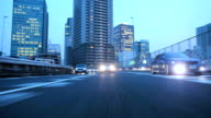 Night highway at Tokyo ,Rear View video