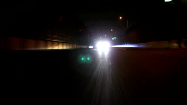 Night highway ,Rear View video