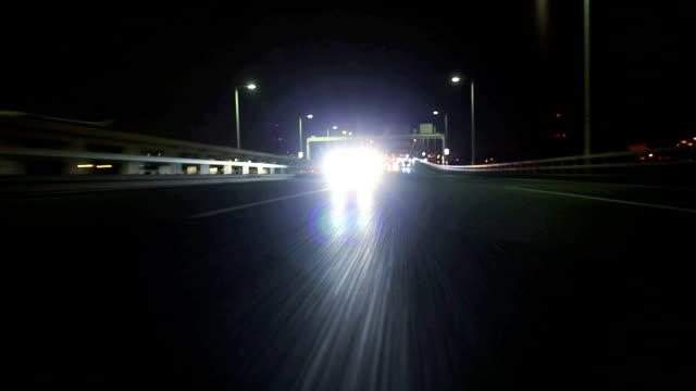Night highway ,Rear View video