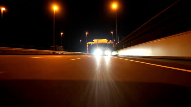 Night highway ,Rear View (timelapse) video
