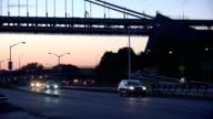 Night Highway Road Traffic video