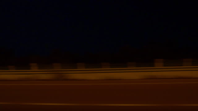 night illuminated street abu dhabi road trip panorama 4k united arab emirates video