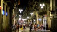 Night life in Barcelona, Spain video