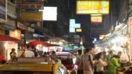 Night life in China Town of Bangkok video