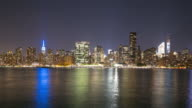 night light traffic manhattan 4k time lapse from nyc video