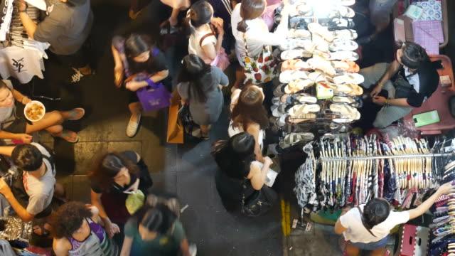 Night market in Bangkok video