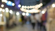 Night Market Out of Focus Circle light Bokeh Background video