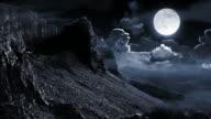 Night mountain landscape video