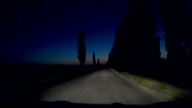 Night Mysterious Road Car Driving 30s video