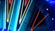 Night neon light of casino video