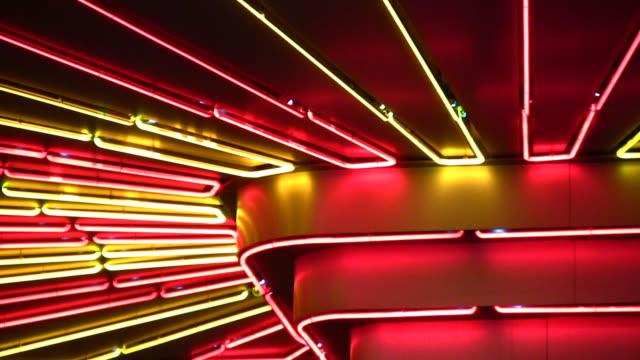 Night neon light video