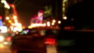 Night New Arbat avenue traffic, Moscow, Russia video