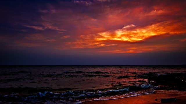 Night on the sea video