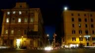 Night Piazza Venezia and Via del Corso video