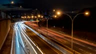 Night Rush Hour Traffic Downtown Toronto Timelapse video