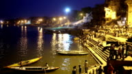 Night scene in Varanasi video