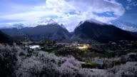 night scene time lapse of Hunza valley,pakistan video