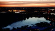 Night Stockholm aerial view video