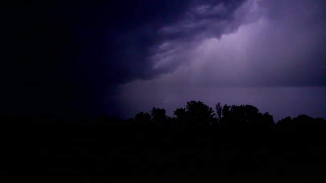 Night storm near river and great zippers video