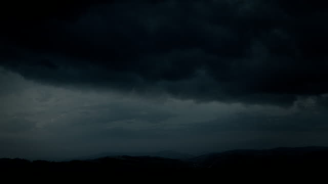 Night thunderstorm - fantastic landscape video background. video