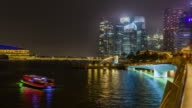 Night time lapse at Singapore 4k format (Apple ProRess 422(HQ) 4096x2160). video