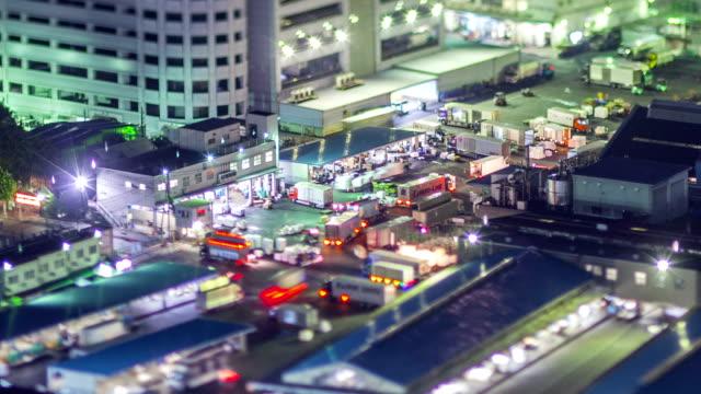 Night Time Lapse Tokyo Japan Tsukiji video
