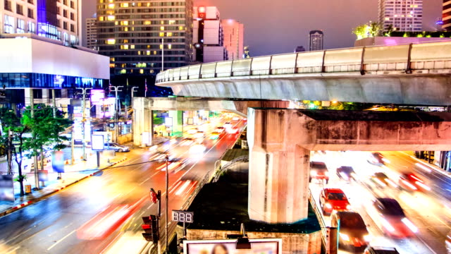 Night time of siam square in Bangkok ,Thailand. video