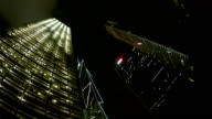 night time-lapse of Admiralty area, Hong Kong, depicting some of the city's landmarks. video