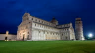 Night Time-lapse of the dome of Pisa video