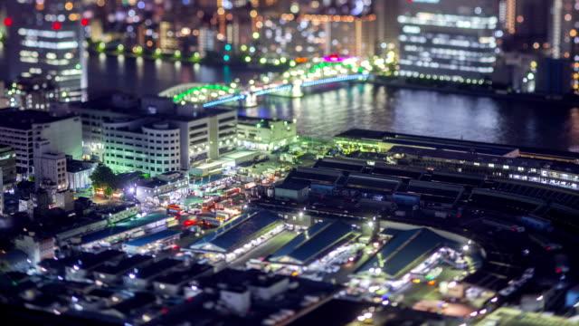 Night Time-Lapse Tokyo Japan Tsukiji video