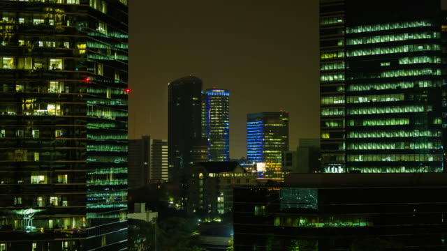 4K TIME LAPSE Night TO Day (4096x2160) : The building office and cityscape at Bangkok, Thailand (Apple ProRes. 422(HQ)) video
