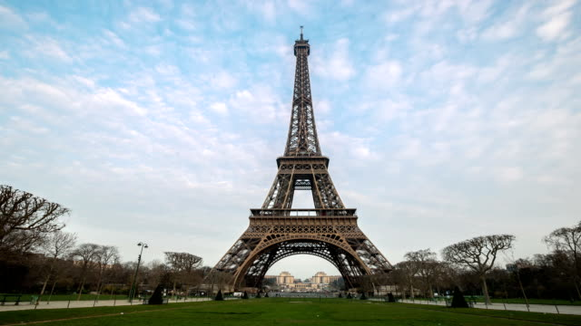 HD Night to Day Timelapse: Eiffel Tower Paris in Action video