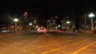 Night Traffic Avenue Timelapse HD720 video