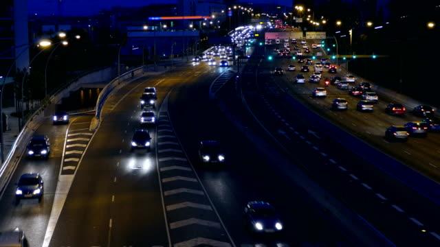 Night Traffic in Barcelona. video