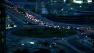 Night traffic in Doha video
