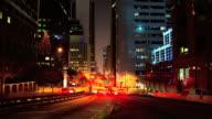 Night traffic in Los Angeles video