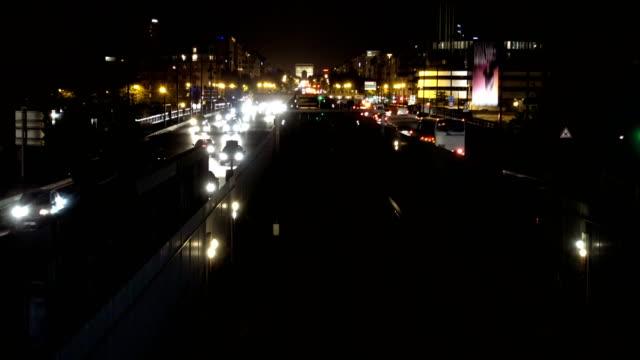 Night traffic in Paris video